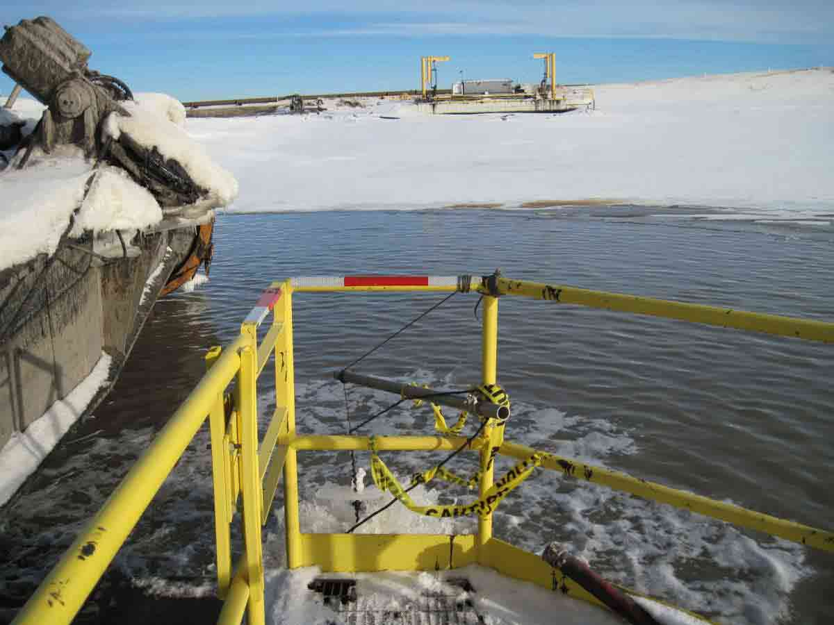 Industrial Deicer/ Bubbler on Tailings pond barge